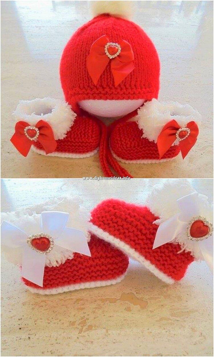 Crochet Cap and Booties