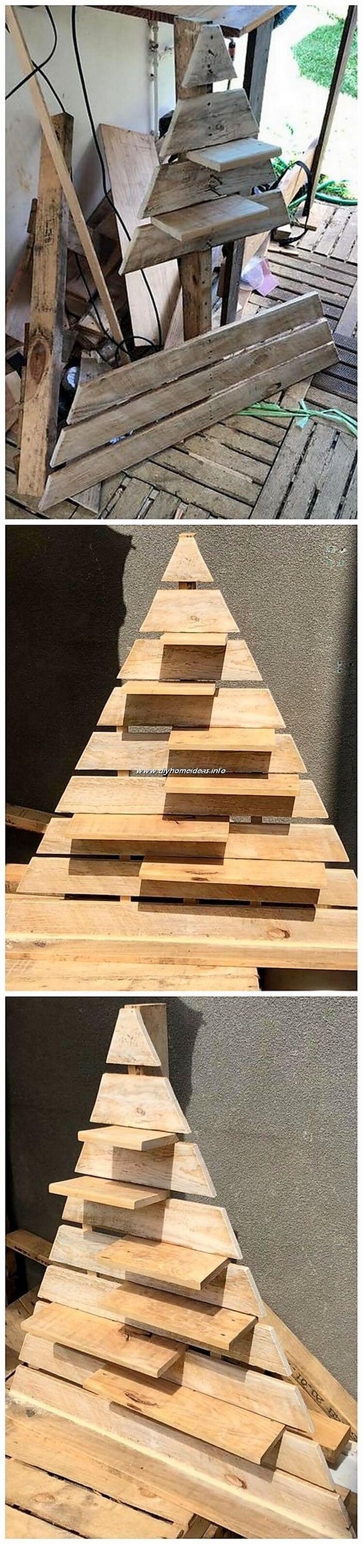 DIY Pallet Tree Art