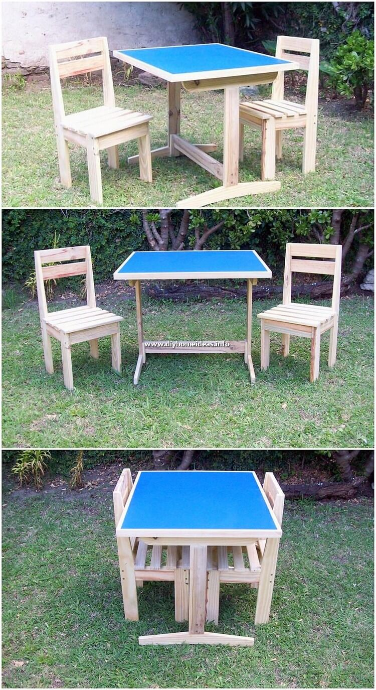 Pallet Garden Table and Chairs