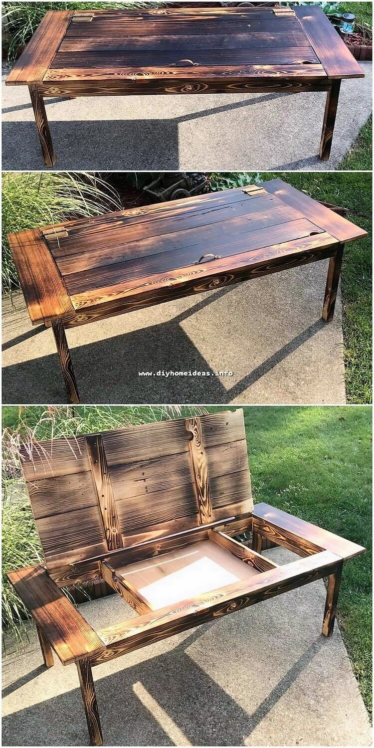 Pallet Table with Strorage