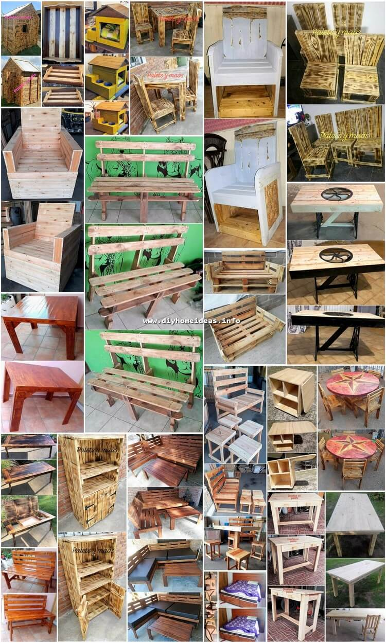 Wonderful DIY Ideas with Recycled Wood Pallets