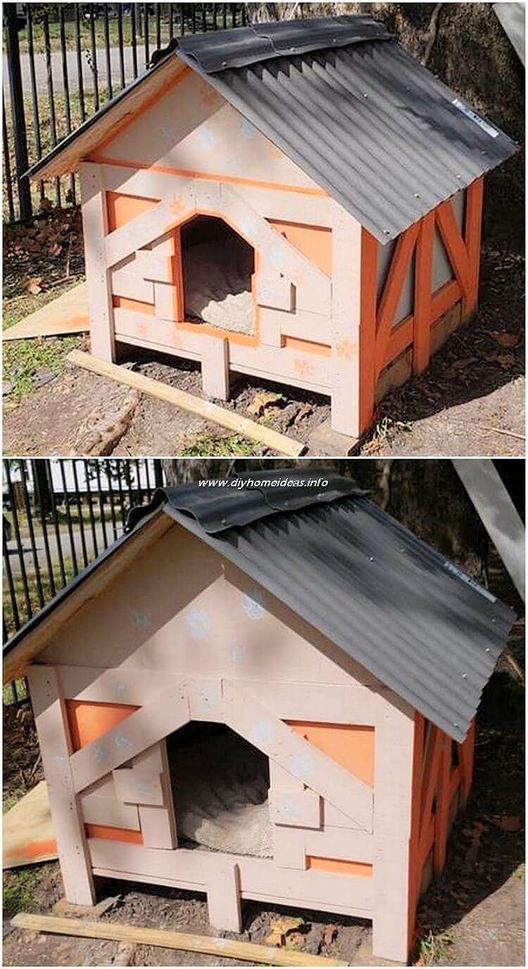 Wooden Pallet Pet House