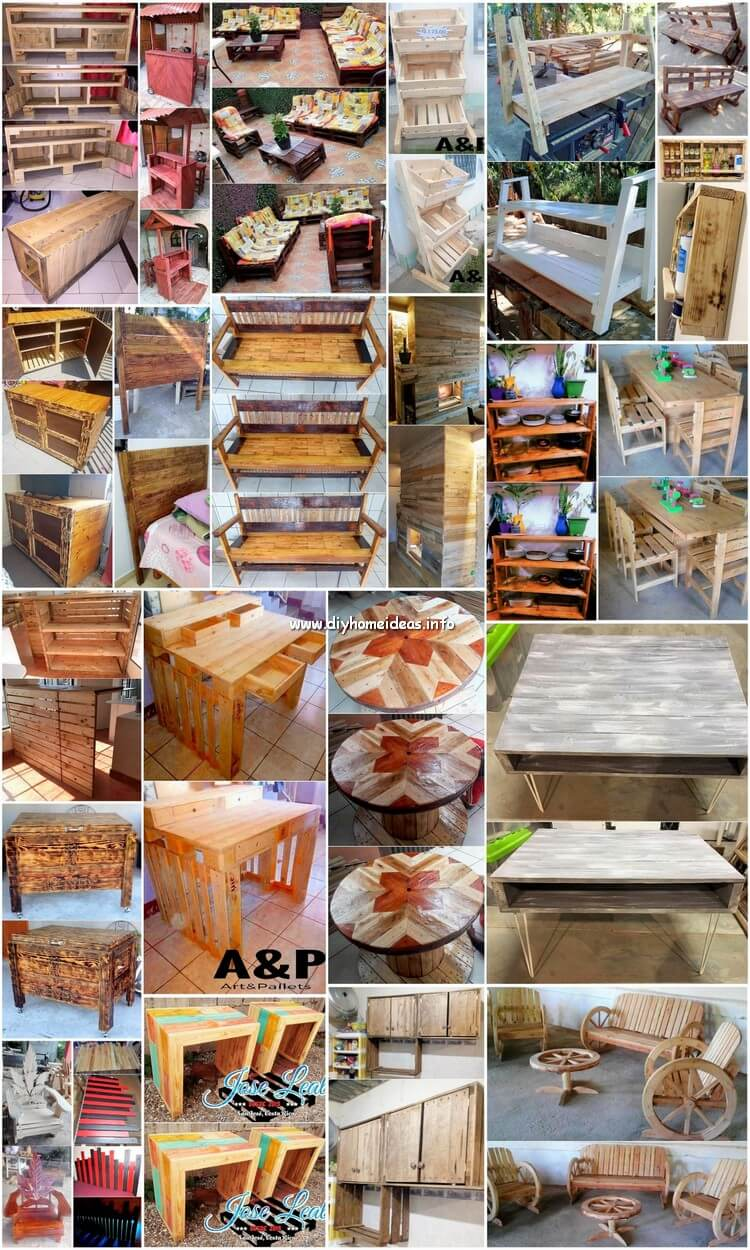 DIY Wood Pallet Furniture Designs and Pallet Craft Ideas
