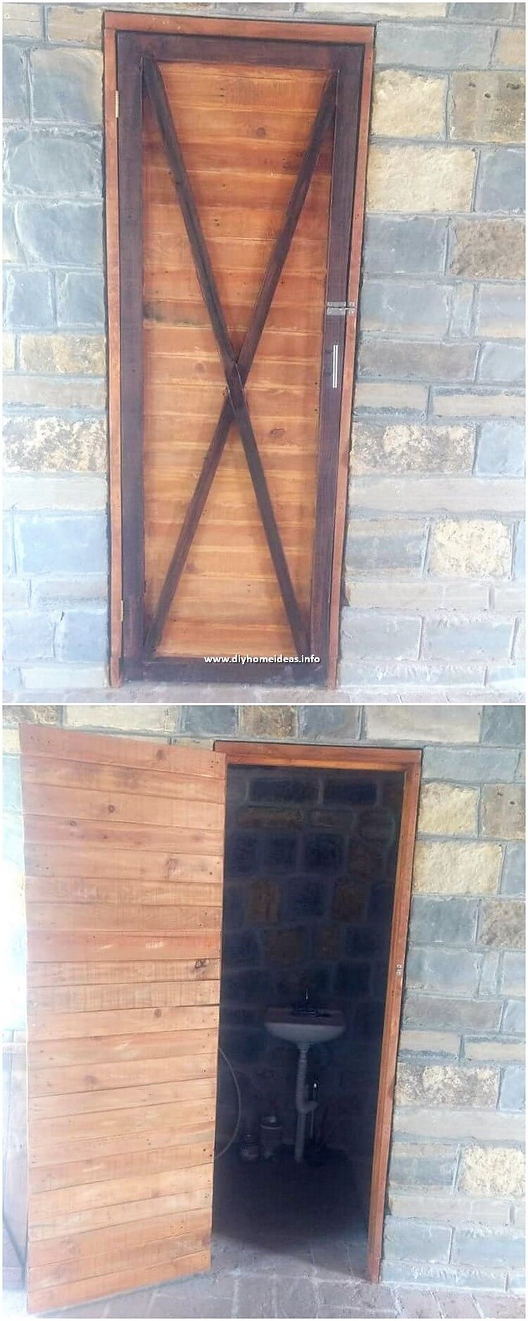 Pallet Bathroom Door