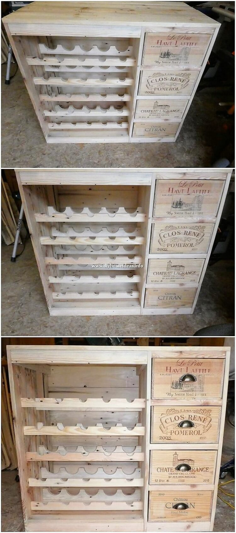 Pallet Cabinet with Chest of Drawers