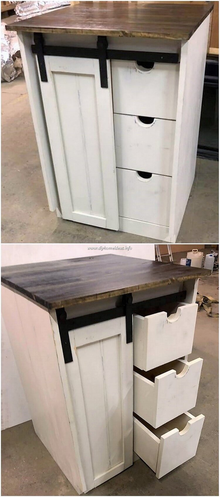 Pallet Cabinet with Sliding Door