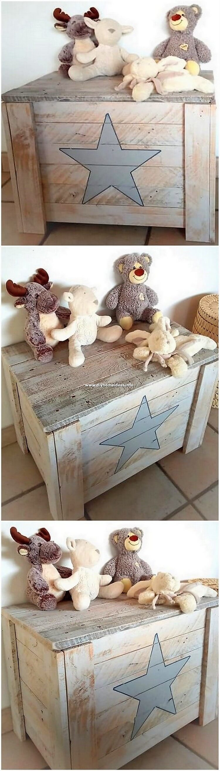 Pallet Kids Toy Storage Box
