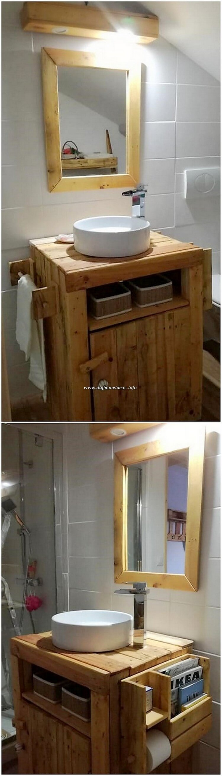 Pallet Sink and Mirror Frame