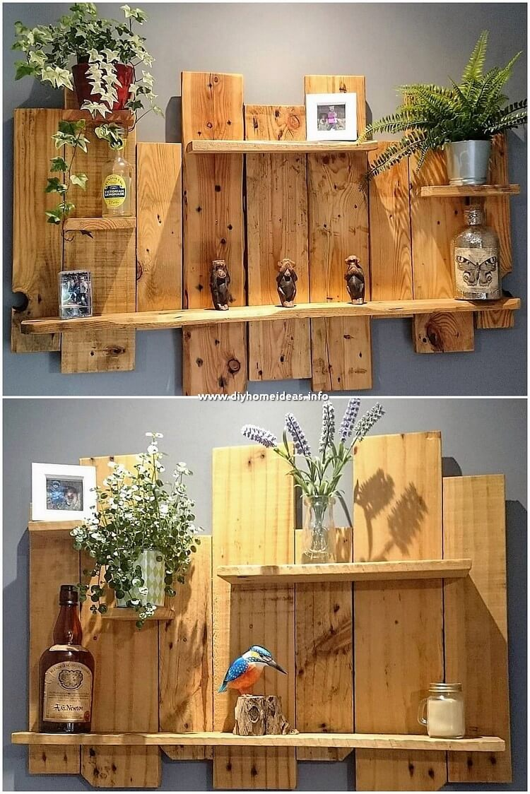 Pallet Pallet Wall Shelf