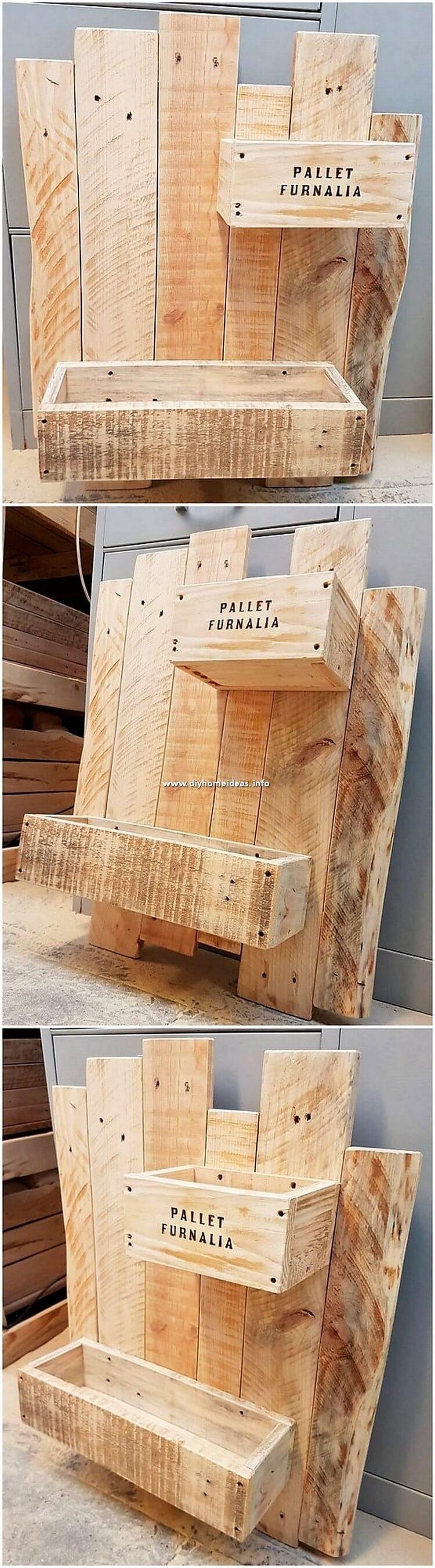 Pallet Wall Shelf