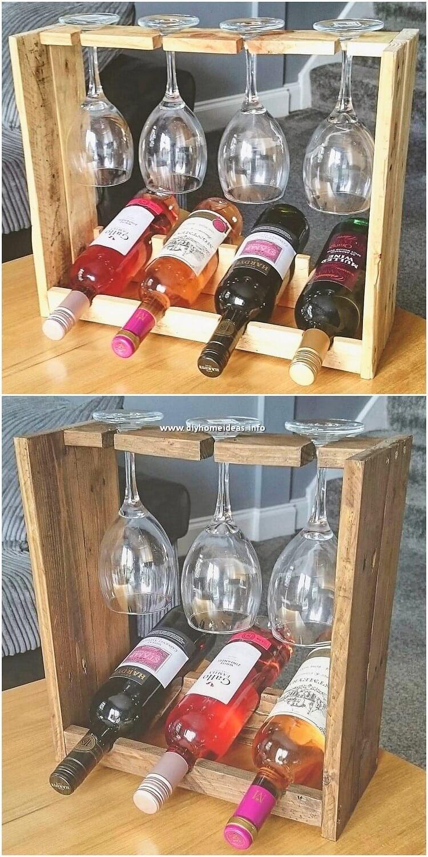 Pallet Wine Holder
