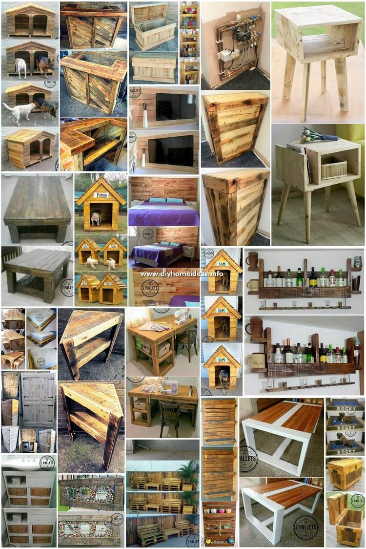 Wonderful DIY Wood Pallet Furniture Ideas and Designs