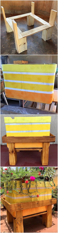DIY Pallet Planter Box Stand