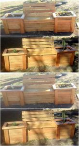Pallet Bench with Planters