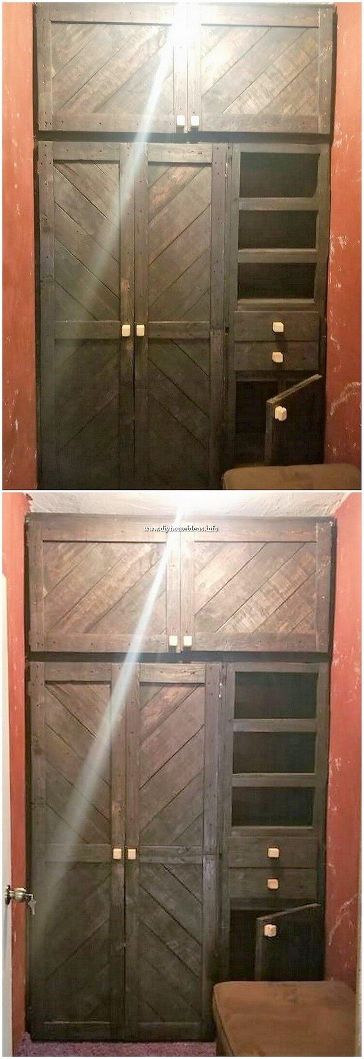 Pallet Closet or Wardrobe