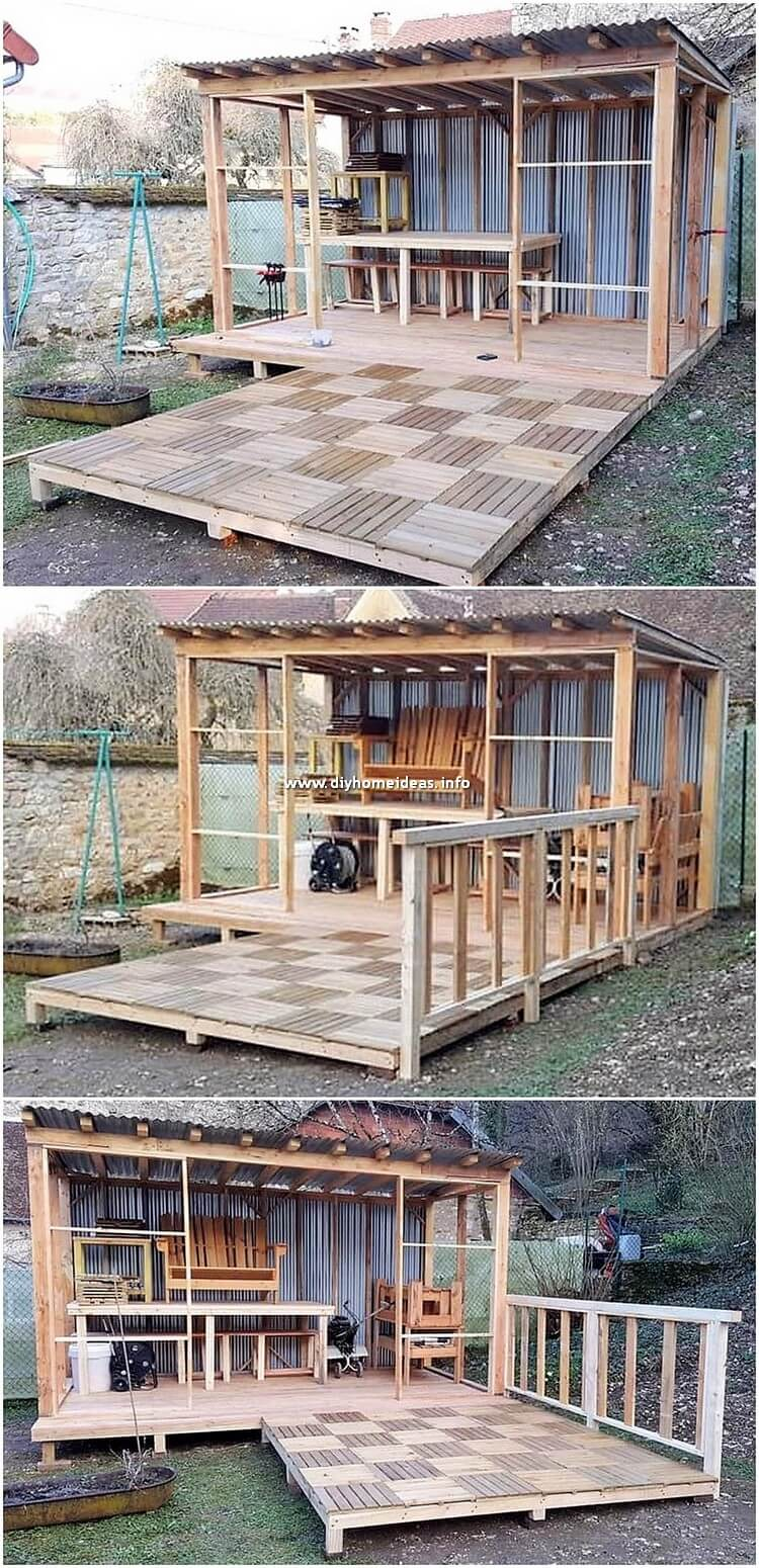 Pallet House and Garden Terrace