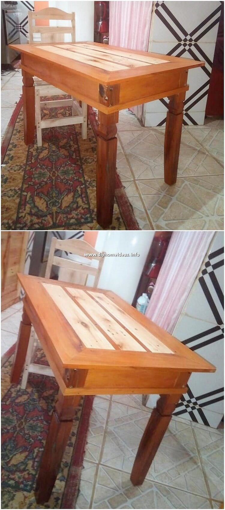 Pallet Table and Chair