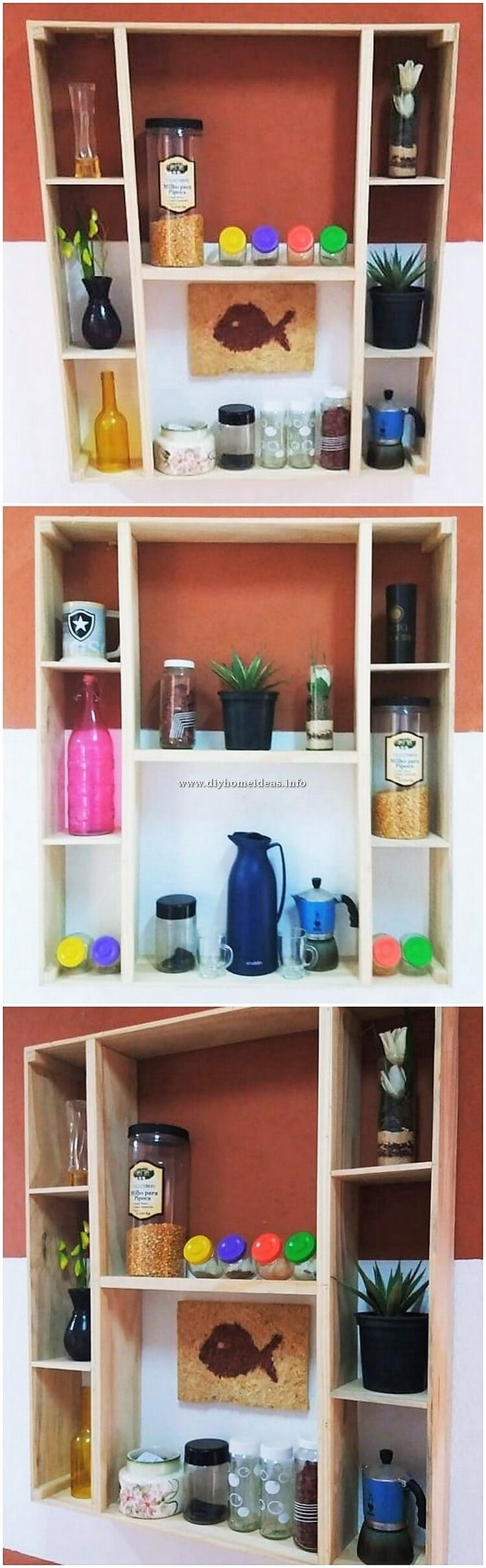 Pallet Wall Shelving