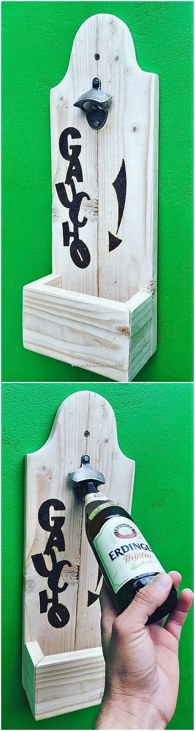 Wood Pallet Bottle Opener