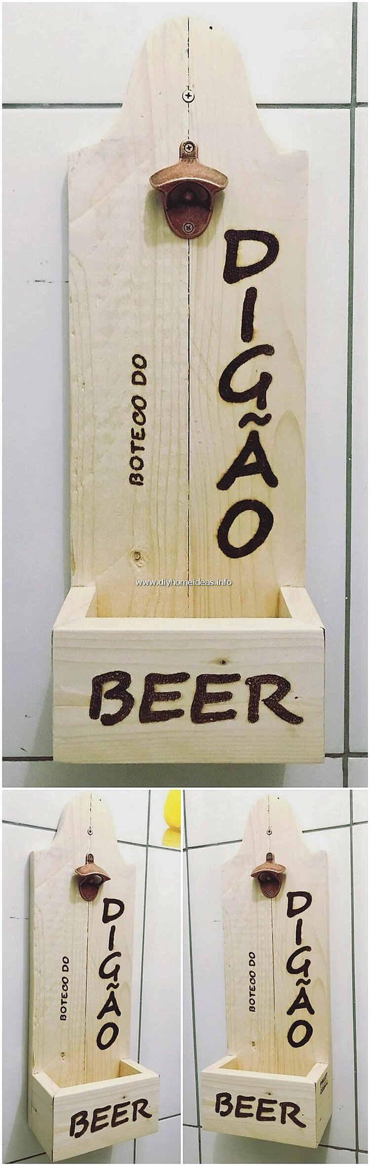 Wooden Pallet Bottle Opener