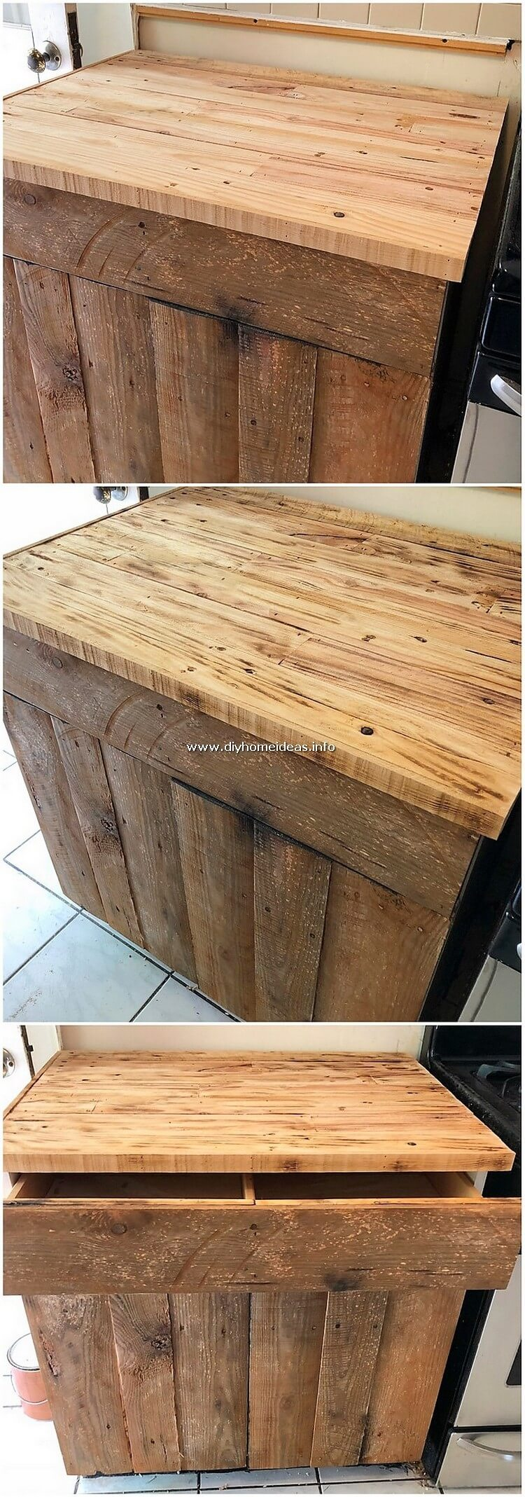 Pallet Cabinet with Drawer