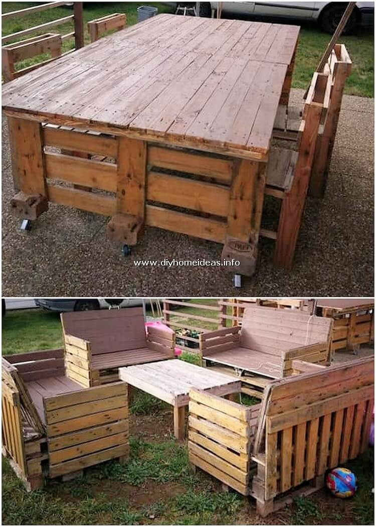 Pallet Dining Furniture and Garden Furniture
