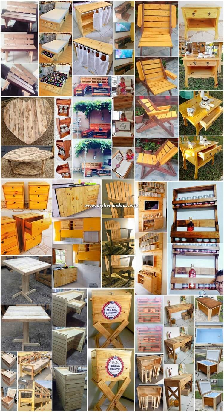 Splendid Creations Made with Old Pallets