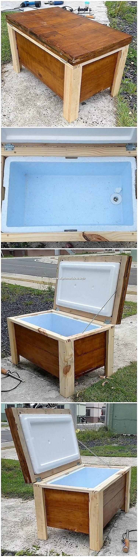 Woode Pallet Cooler