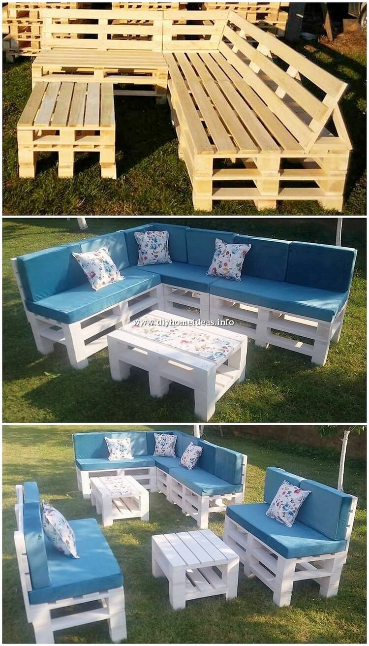 Pallet Couch Set for Garden