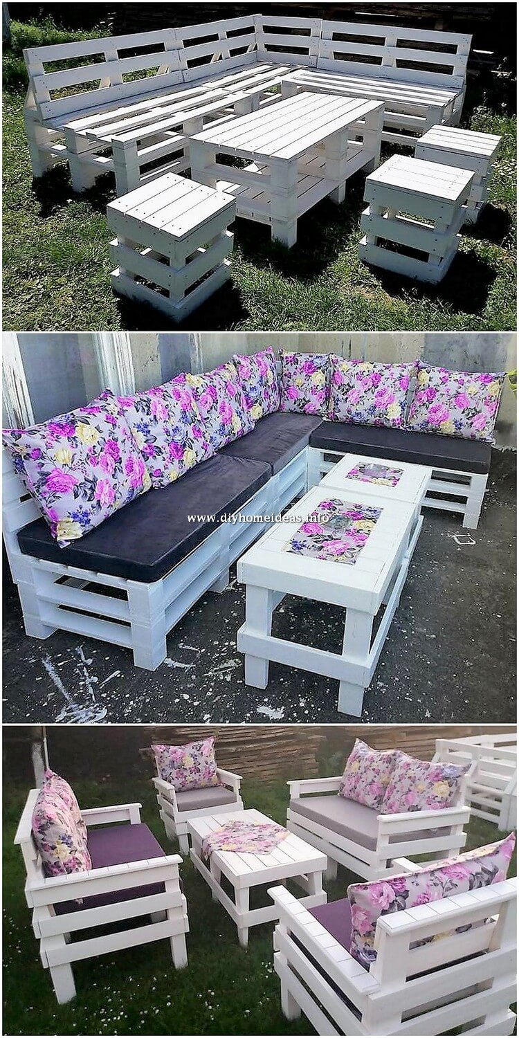 Pallet Couch and Table Set