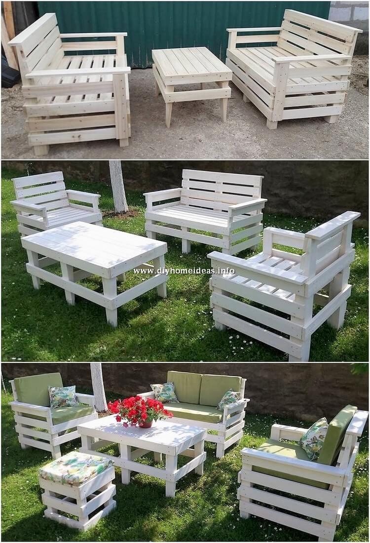 Pallet Garden Couch Set