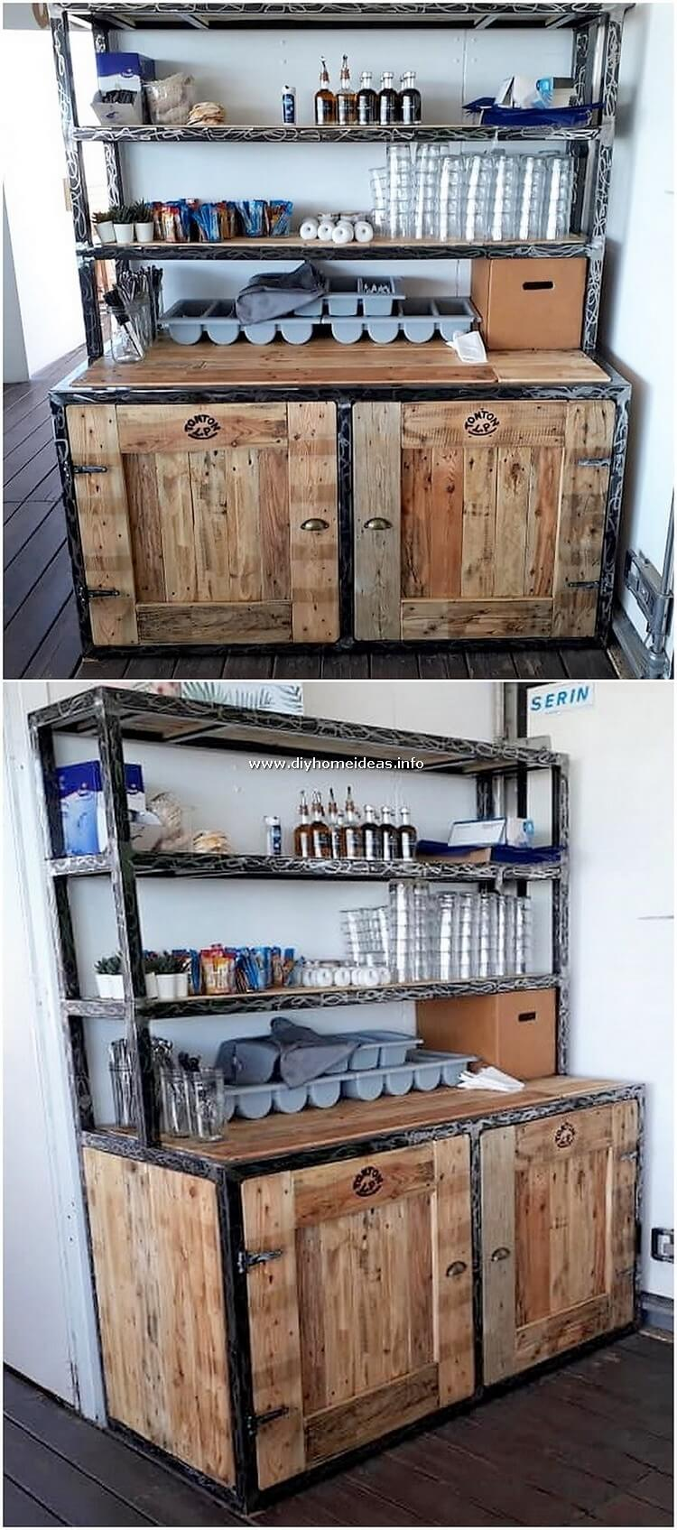 Pallet Desk Table or Cabinet