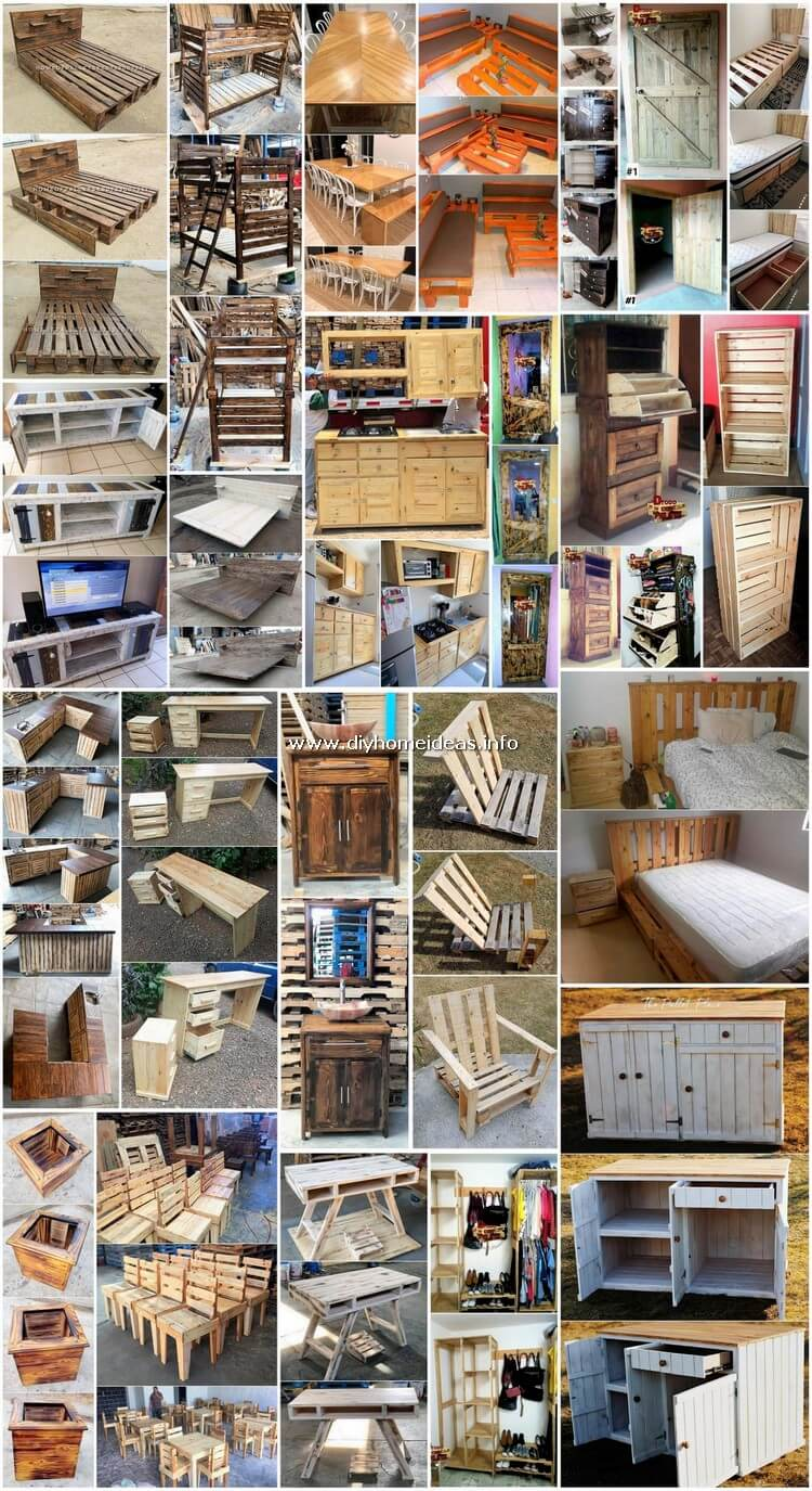 Elegant and Creative Ideas with Old Pallets