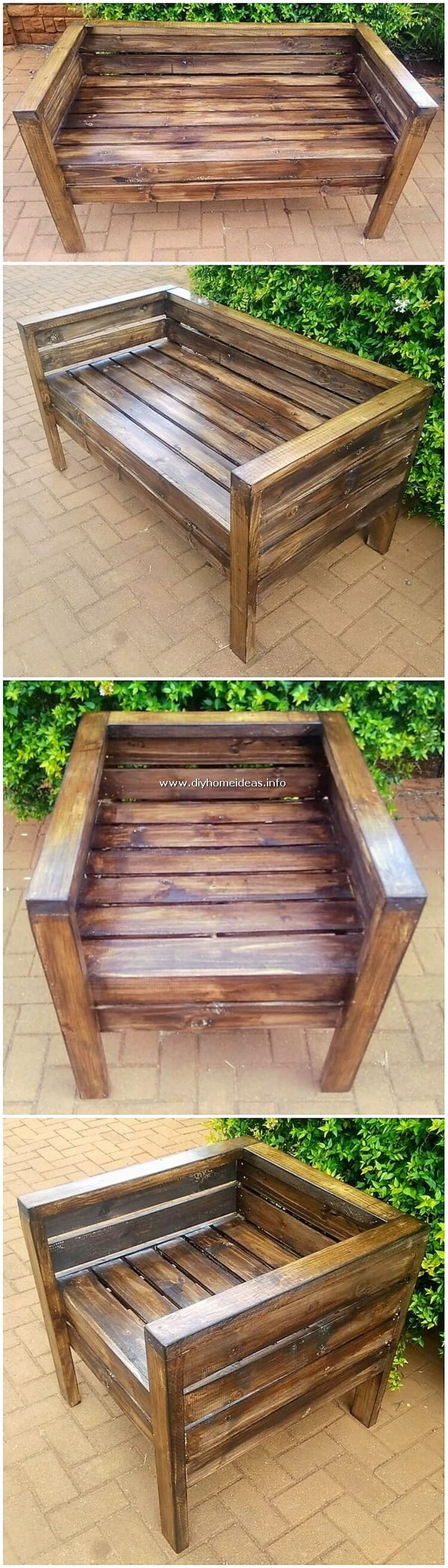 Pallet Bench and Chair