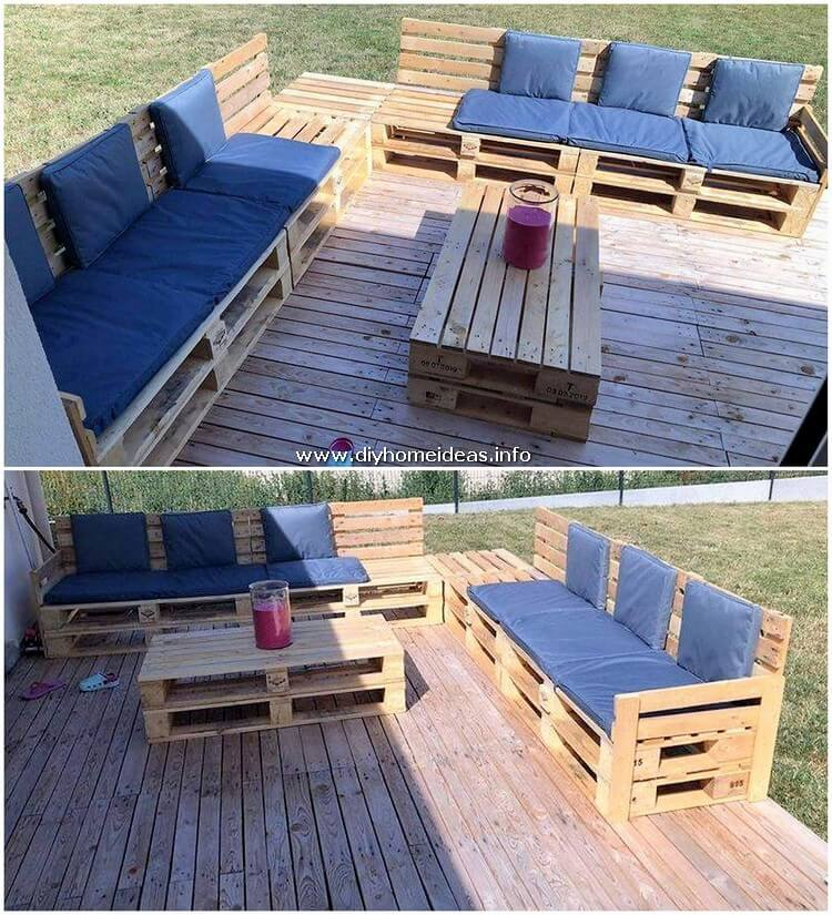 Pallet Outdoor Couch and Terrace