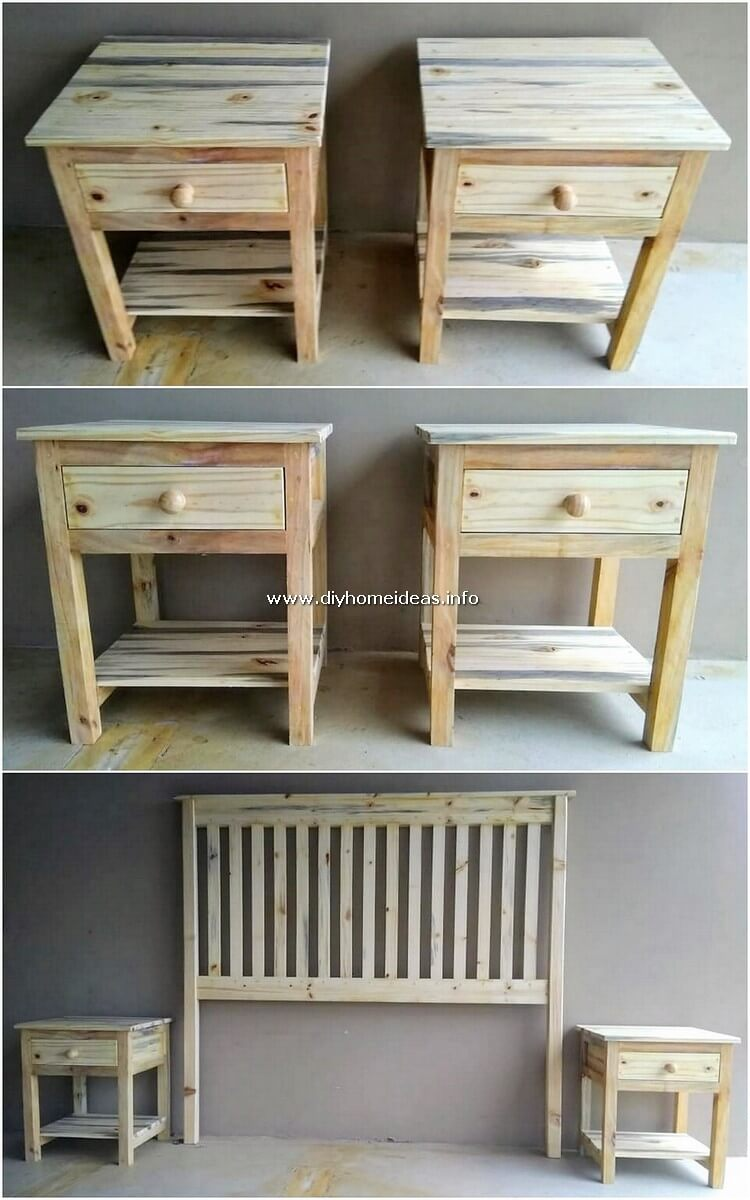 Pallet Side Tables and Headboard