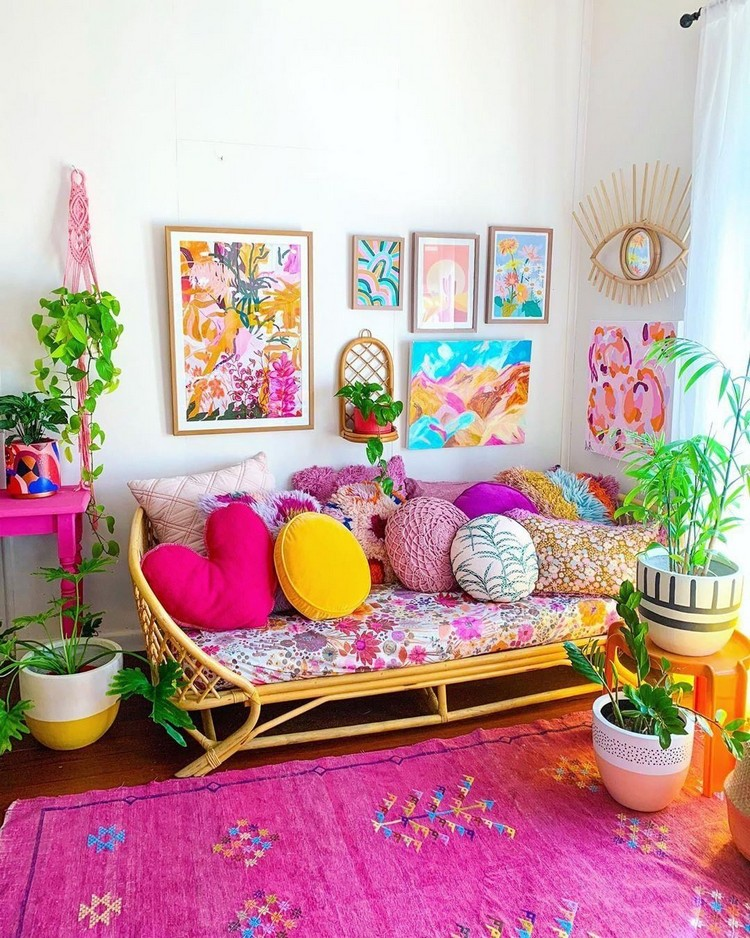 Bohemian Interior Decor Design (10)