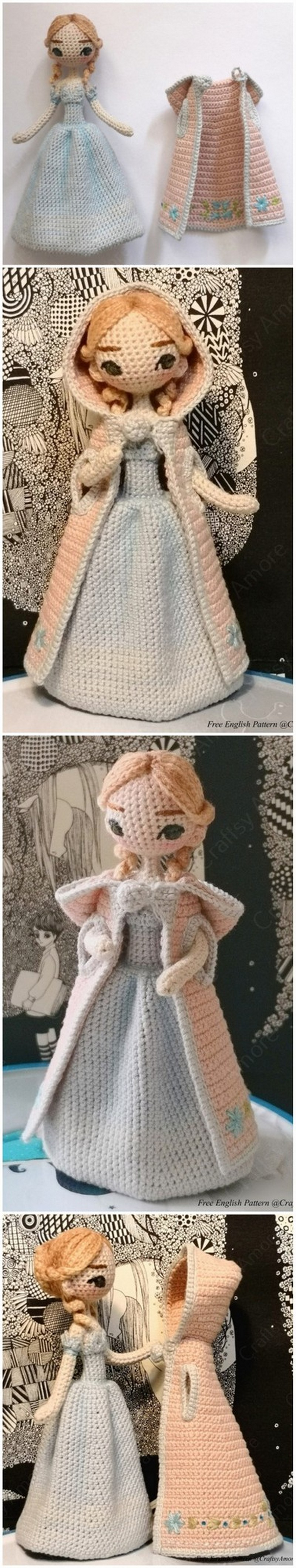 Free Crochet Doll Pattern- The Friendly Grace - thefriendlyredfox.com | 4233x800