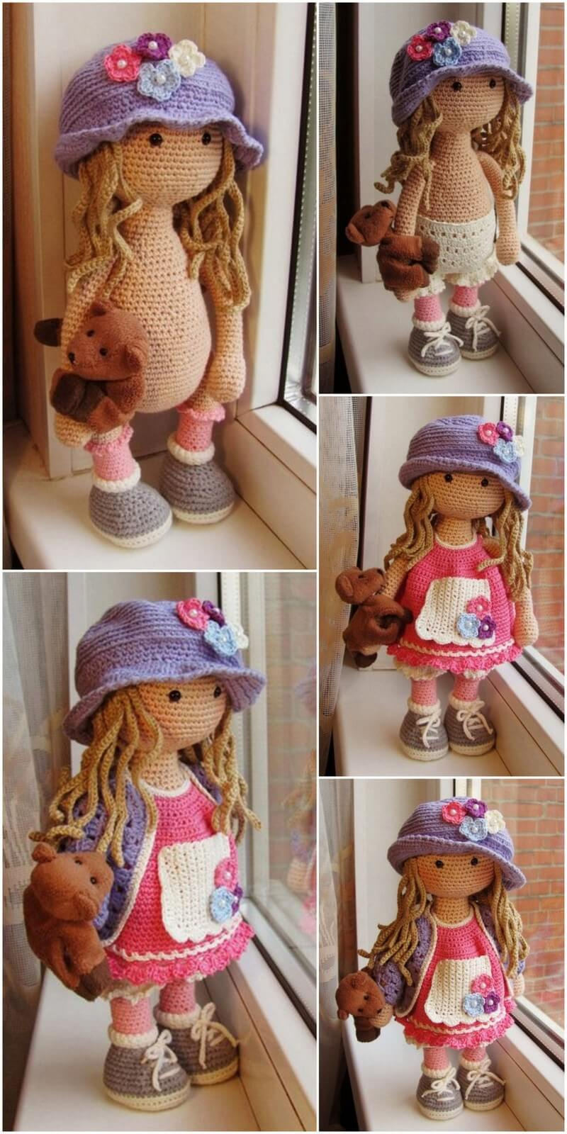 Crochet Amigurumi Doll Pattern (57)