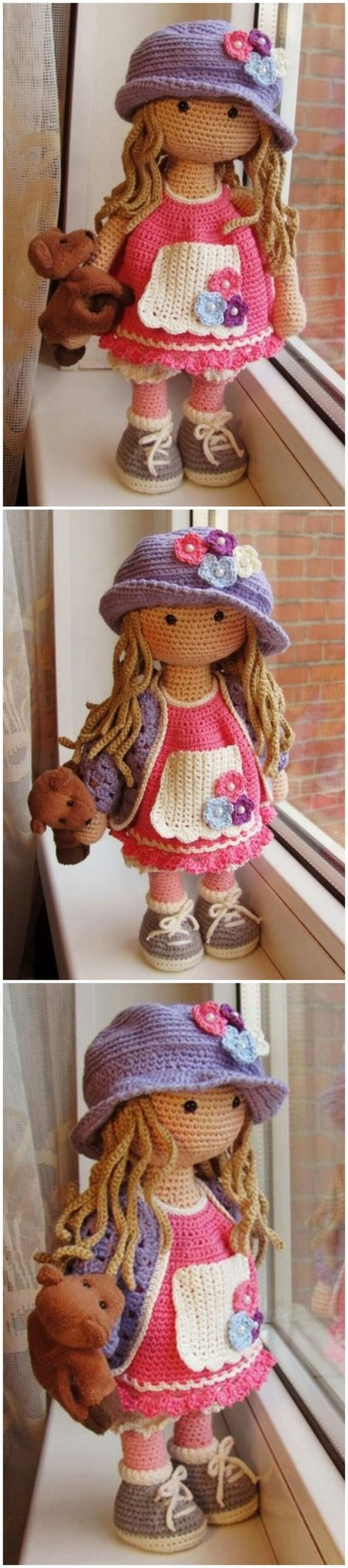 Crochet Amigurumi Doll Pattern (59)