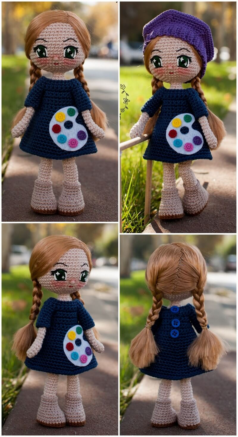 Crochet Amigurumi Doll Pattern (6)