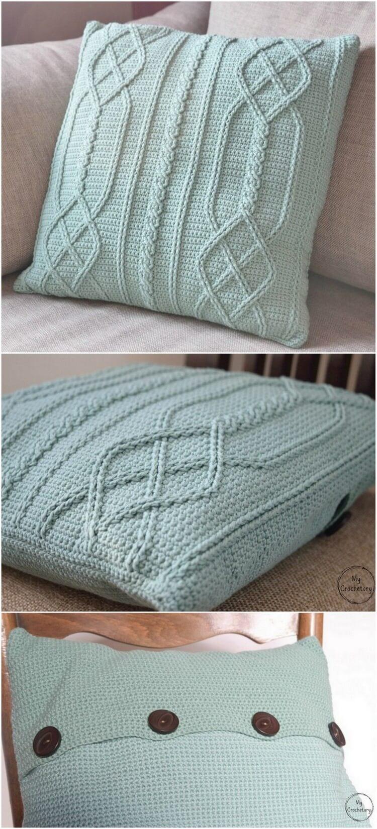 Crochet Pillow Free Pattern (14)
