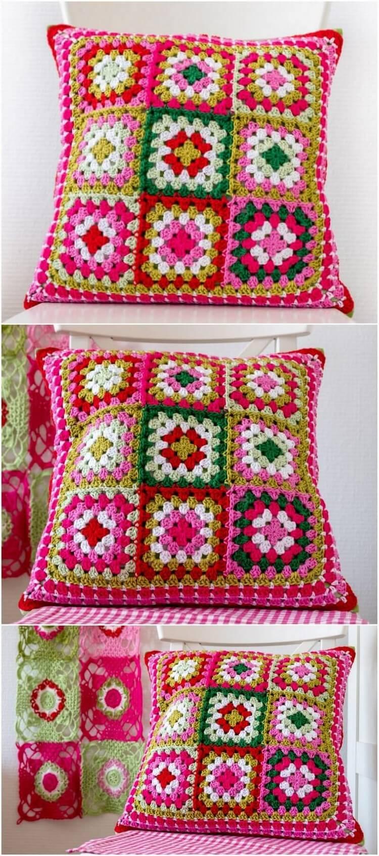 Crochet Pillow Free Pattern (16)