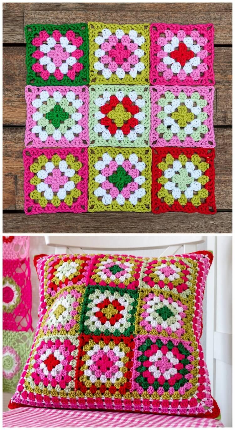 Crochet Pillow Free Pattern (17)