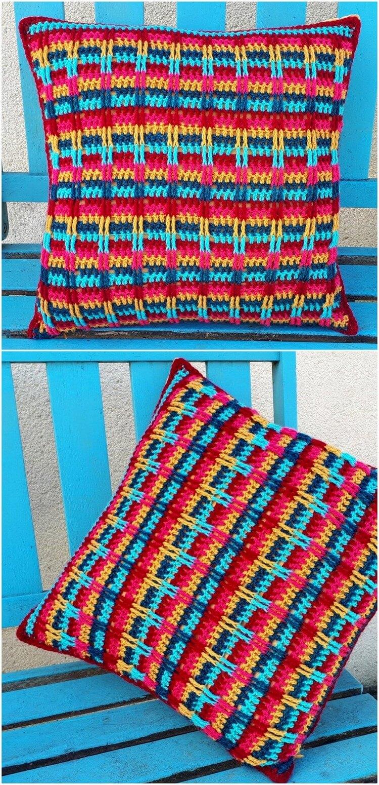 Crochet Pillow Free Pattern (20)