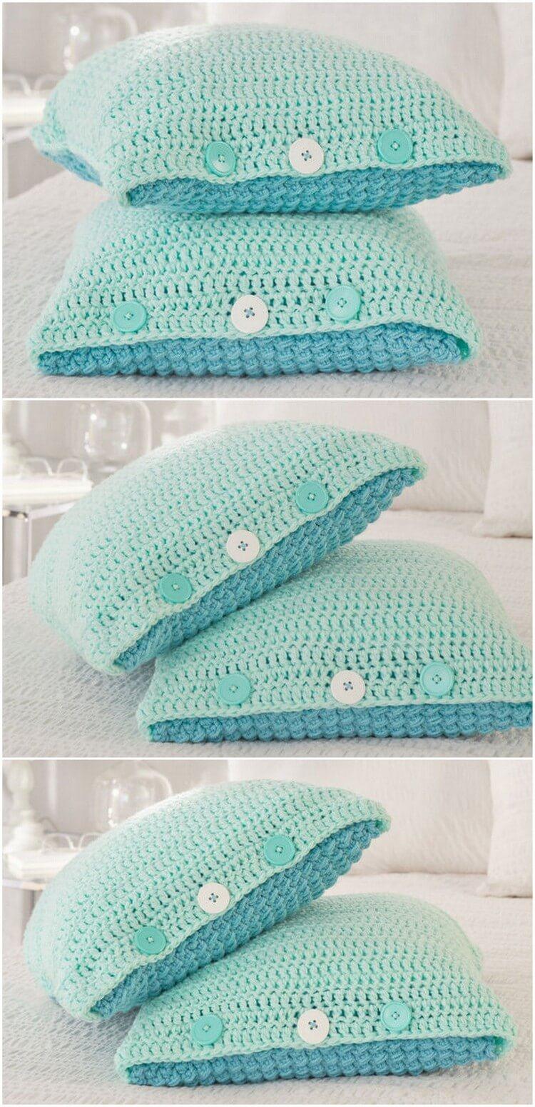 Crochet Pillow Free Pattern (26)