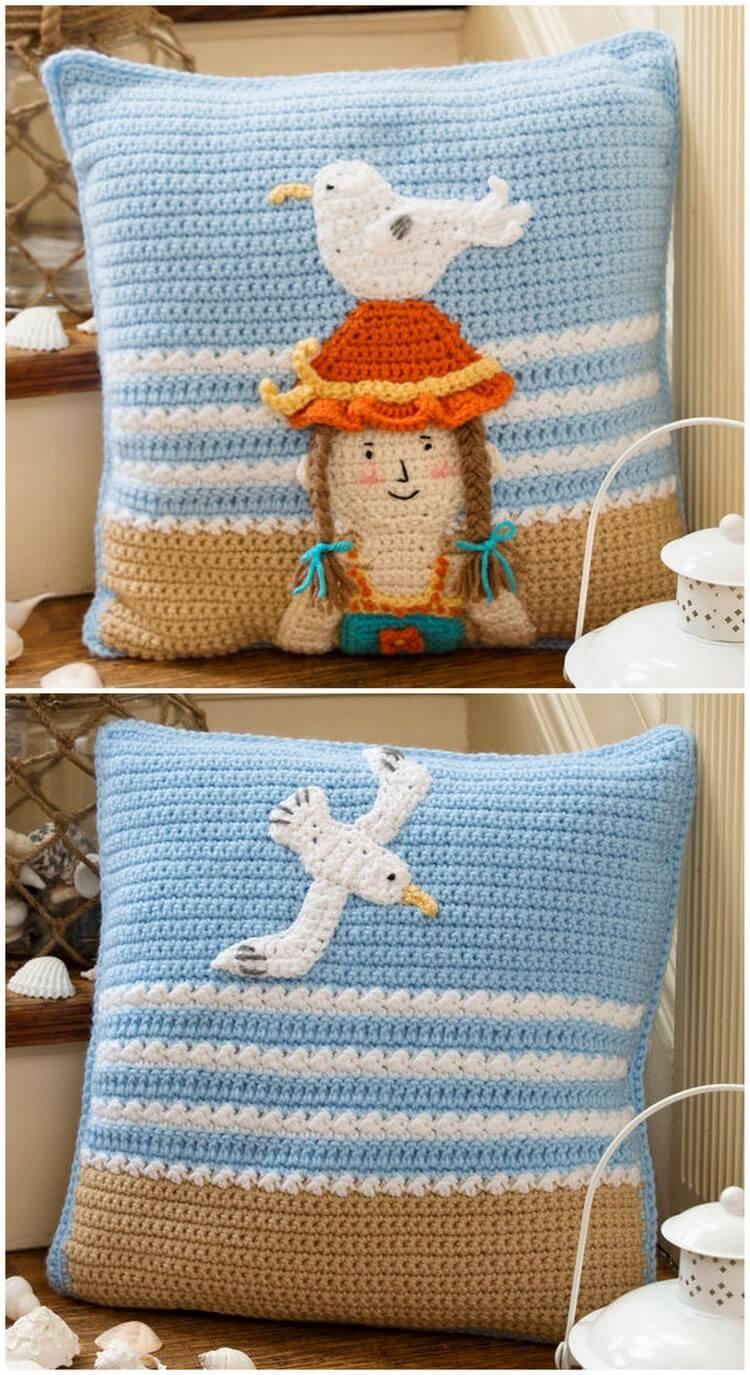 Crochet Pillow Free Pattern (31)