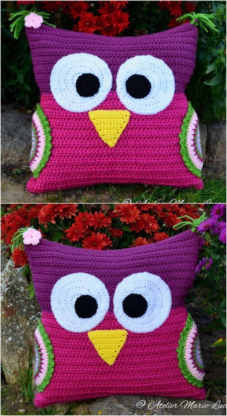 Crochet Pillow Free Pattern (33)