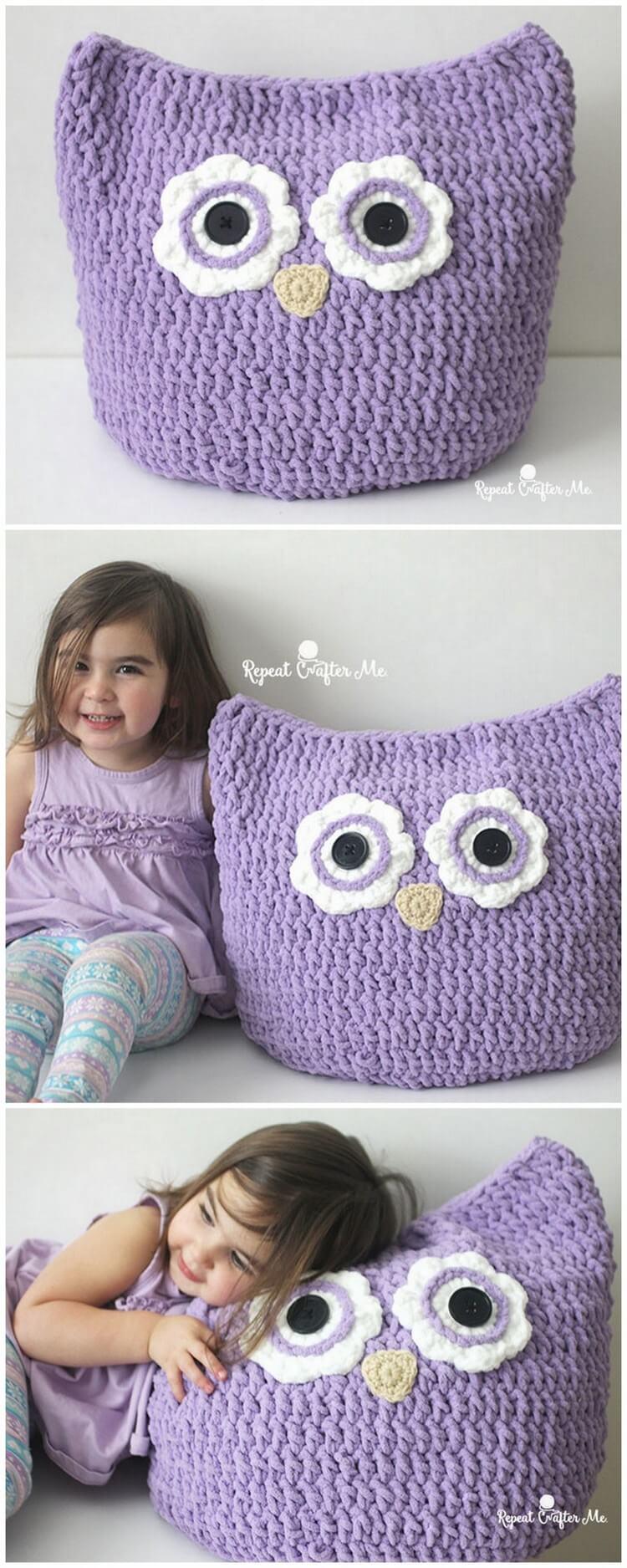 Crochet Pillow Free Pattern (4)