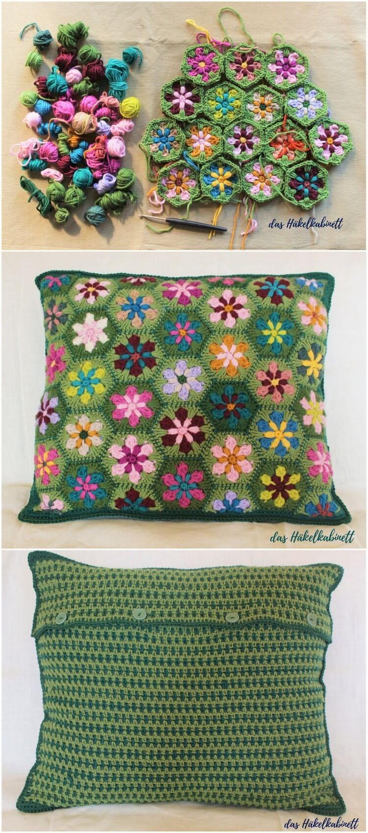 Crochet Pillow Free Pattern (43)